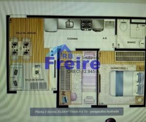 Apartamento em PARQUE SÃO VICENTE - MAUÁ por 190.000,00